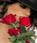 Monica Cruz poses with roses