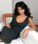 Monica Cruz black dress