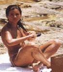 Monica Cruz in the sand