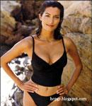 Yasmeen Ghauri swimsuit modeling