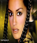 Yasmeen Ghauri braided pigtails