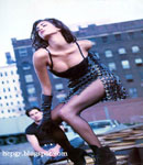 Yasmeen Ghauri modeling shoot