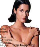 Yasmeen Ghauri covering herself