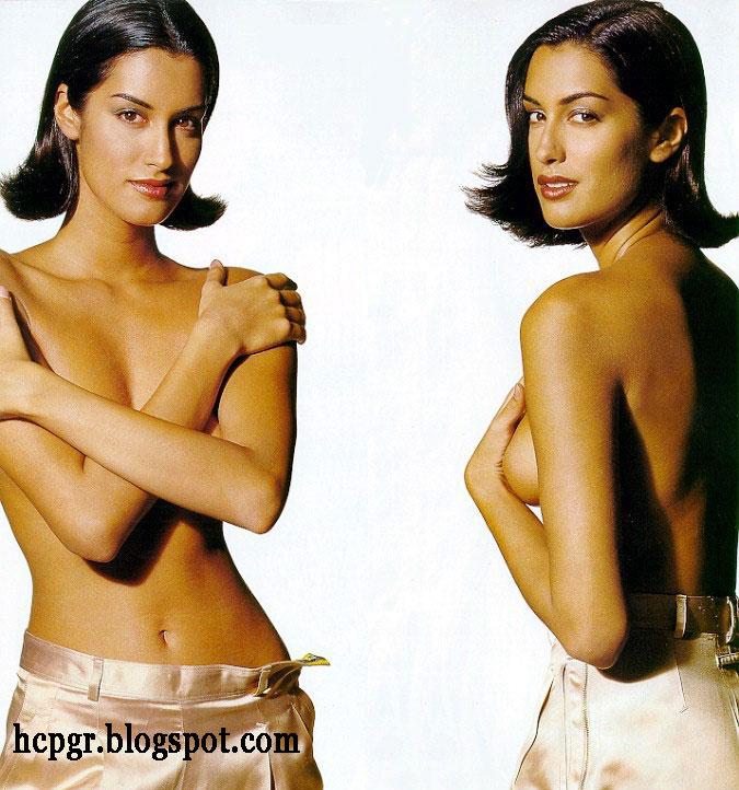 yes she is Yasmeen Ghauri