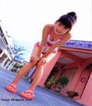 Yuko Ogura bend over