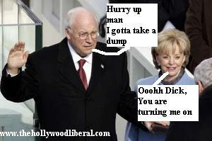 Dick Cheney about to soil himself 012005