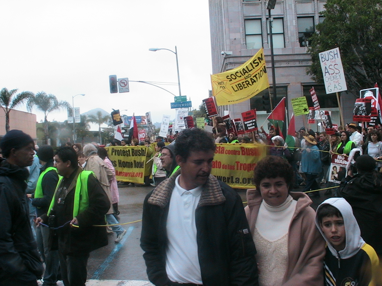 We will continue to fight against the War Anti war march in Hollywood March 19, 2005
