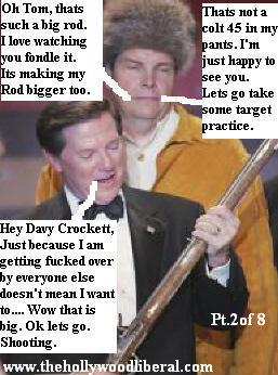 Tom Delay and a good buddy of his onstage at The NRA Meeting in Houston 041605