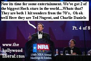 Tom The Hammer Delay, introduces the entertainment at the NRA Convention in Houston Texas 041605