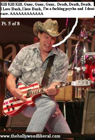 Ted Nugent onstage playing Guitar at the NRA meeting in Houston April 16 2005