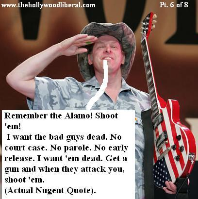 Ted Nugent makes a speech after playing NRA meeting 041605