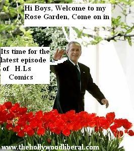 George Bush in The White House Rose Garden 042105
