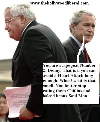 President Bush, and Dennis Hastert exchange plesantries 042405