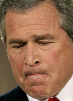 When you see President Bush doing this  with his face, you know he is lying 042805