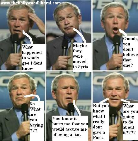 George W. Bush tells in an interview whats on his mind.