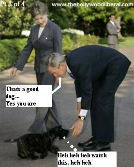 President Bush making nice with the ratings dog, that brought no ratings
