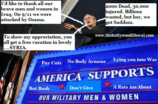 Bush makes another speech to the troops vainly attempting to get americans behind the war 102605