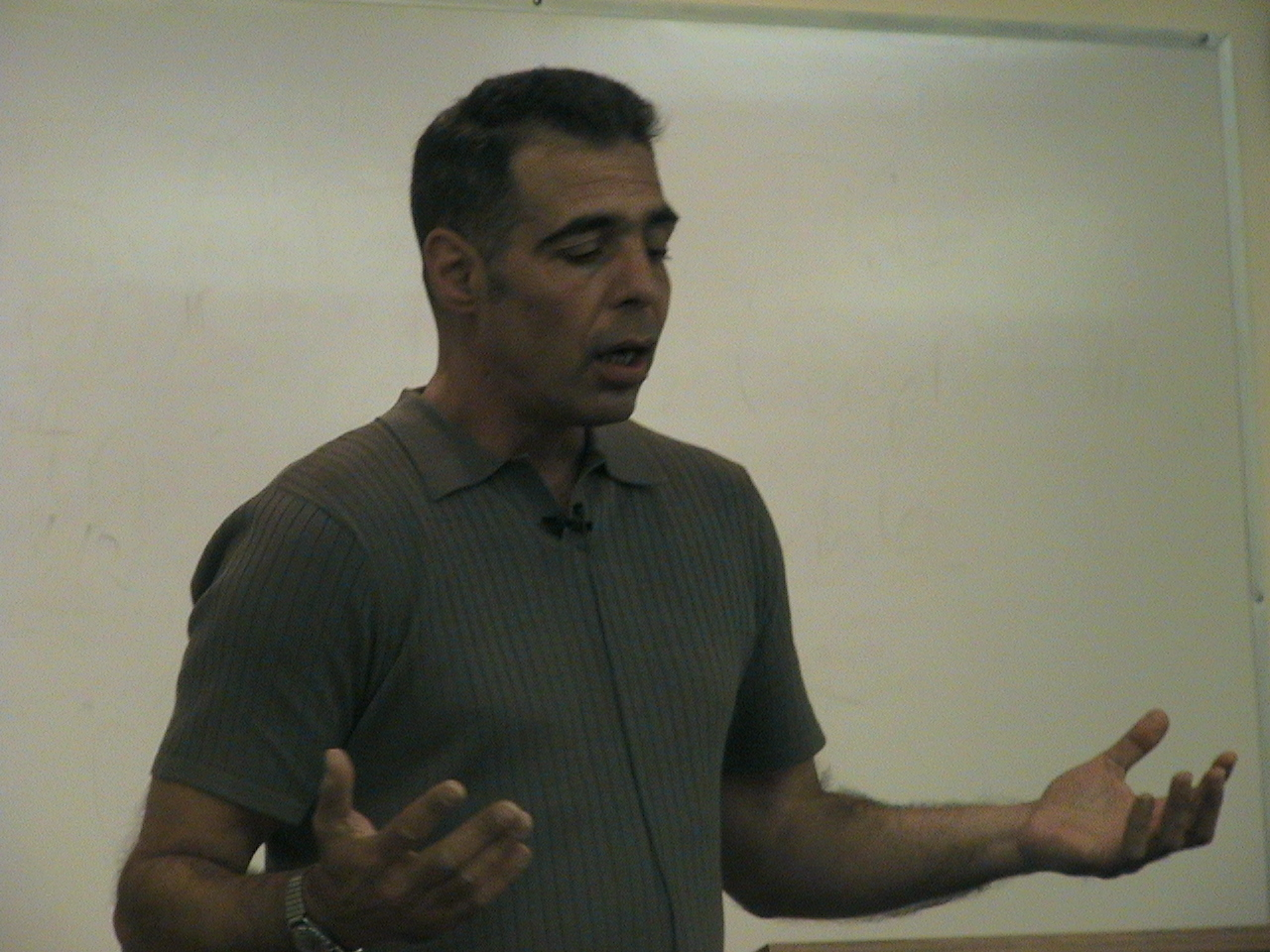Justin Raimondo of Anti-War.com speaking at Whittier Law School, in Costa Mesa Ca. 031505