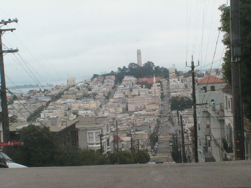 Looking up Knob Hill in San Francisco