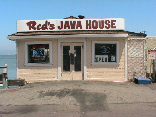 If your ever in San Fracisco, check out Reds Java Hut, Great Cheeseburgers, and cheap beers, right under the Bay Bridge