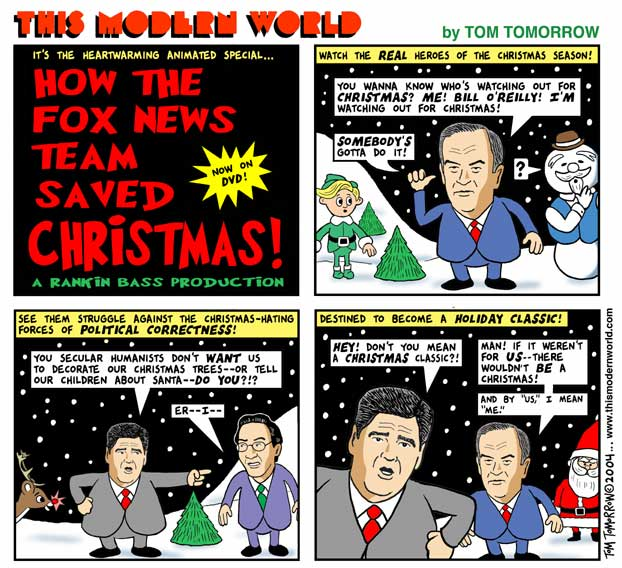 This Modern World by Tom Tomorrow, Christmas cartoon 12/23/04