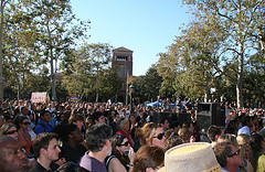 A big crowd turned out to see Barack Obama speak at USC