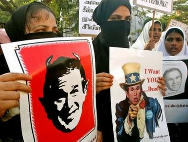 Egyptians, syrians, and iraqis, hate the USA and Bush
