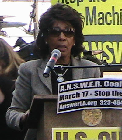 Maxine Waters Ca. Congresswoman speaks out against Iraq War