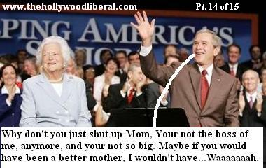 President Bush confronts his mother about his childhood