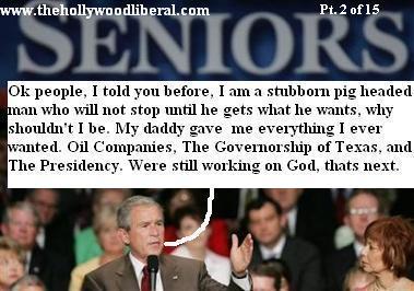 President Bush talks to an audience on social Security