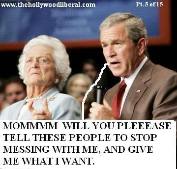 President Bush asks his mother for a favor
