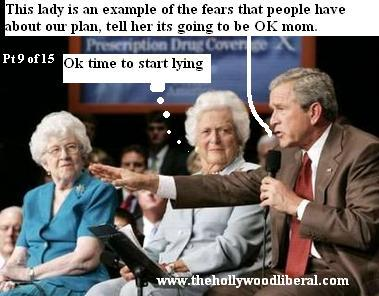 George W. Bush is going to have his mother explain to everyone that his Social Security plan is safe for senior citizens