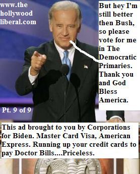 A political message from Joe Biden, and the finance and credit card industry 062005