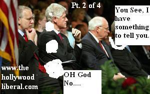 Bill Clinton, and Dick Cheney at Oklahoma City Memorial 042105