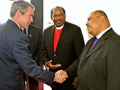 Bush paid off these former Democrat Pastors to be his little hookers 011905