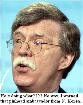 John Bolton wants the United Nations to act agasint north kores