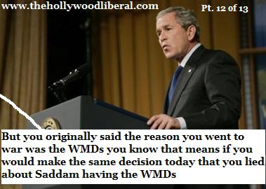 Bush lied about his reasons for war