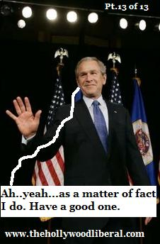 President Bush admits he is a liar