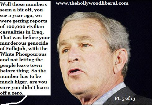 Bush is lying again