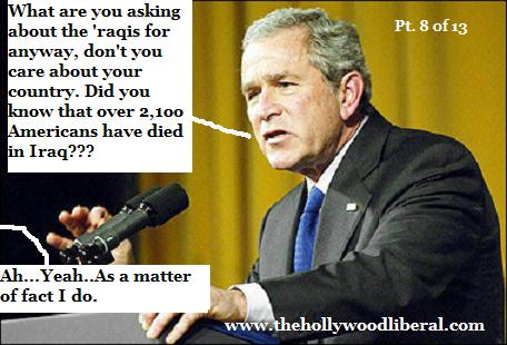 Over 2100 Americans have died for Bush's war