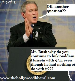 Bush continues to link 9/11 and Saddam Hussein
