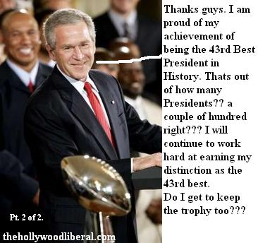 Bush accepts trophy