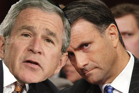 President Bush pictured with lobbyist Jack Abramoff