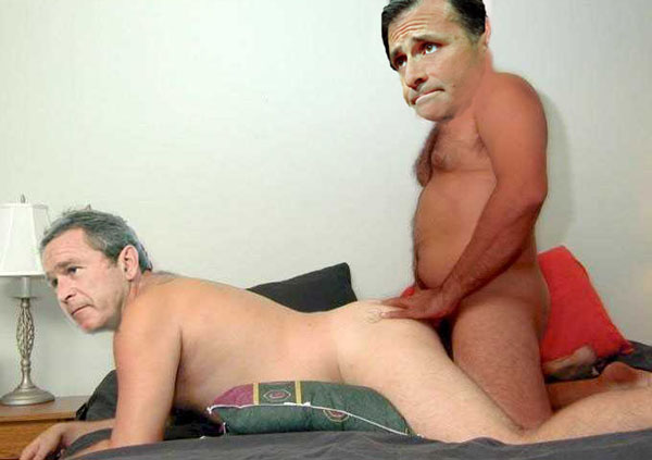 President Bush and Jack Abramoff at a party