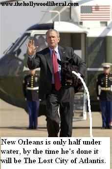 Bush is back from his vacation to help out with the hurricane, oh noooo