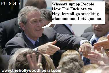 President Bush getting freindly with the people