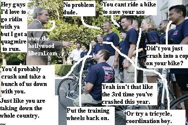 That Freedom Rider President Bush meets with fellow bikers 071105