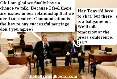 Bush & Blair talk over international issues