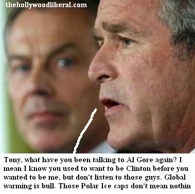Bush & Blair disagree on global warming