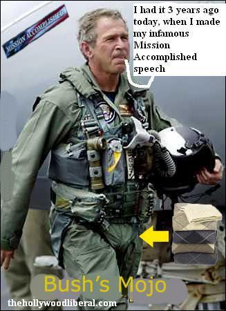 Bush in Flightsuit Mission Accomplished